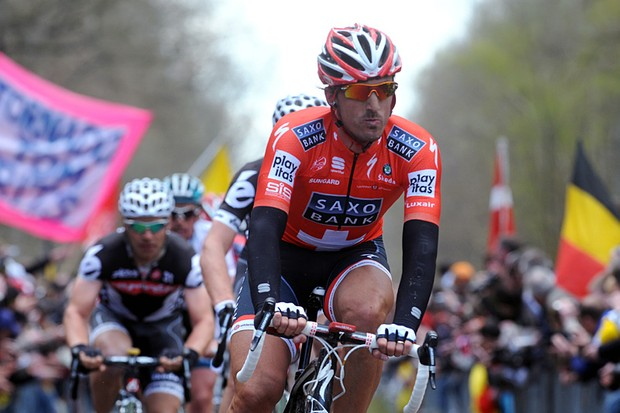 Fabian Cancellara on his way to winning the 108th Paris-Roubaix