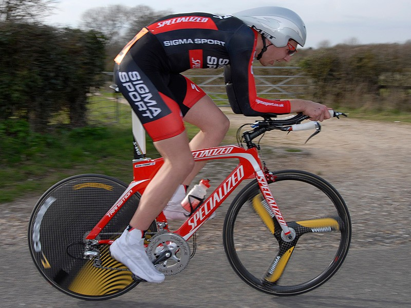 Wouter Sybrandy showed perfect form en route to winning round 2 of the Rudy Project national time trial series in North Hampshire