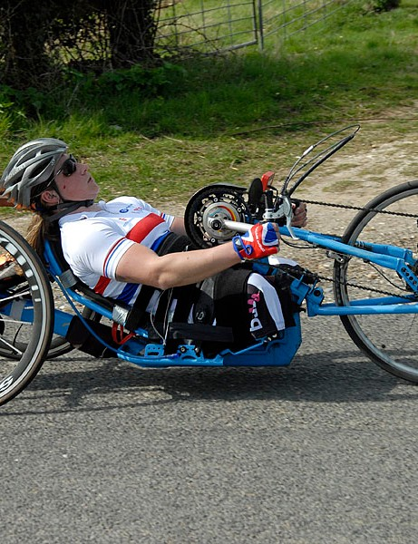 Rachel Morris finished third in the disabled category