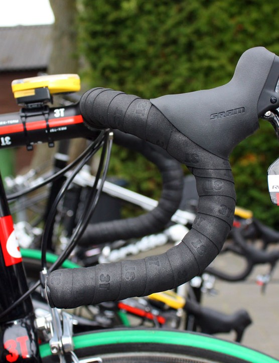 Hushovd's 3T bars sport more traditional bend than the signature-series PRO model he used two years ago.
