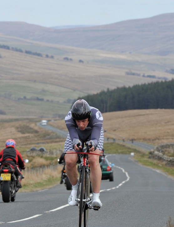 Mark Holton (Drag2zero.com) en route to breaking the course record in the Circuit of the Dales