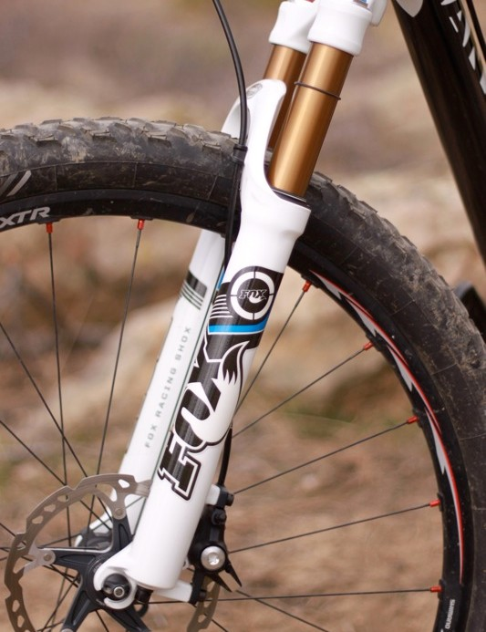 New graphics and gold Kashima Coat on the upper legs set the fork apart visually.