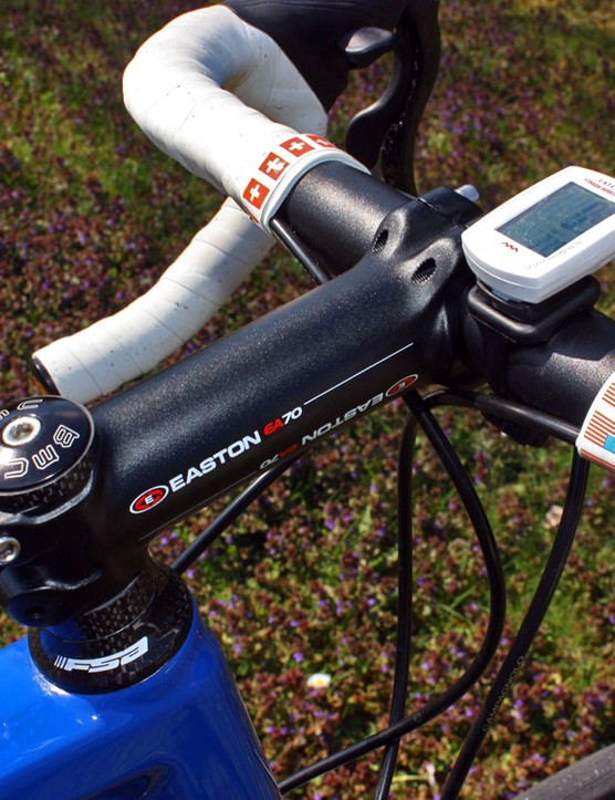 Hincapie is using a forged aluminium stem from Easton.