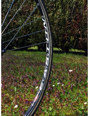 These rims sport giant Easton decals…