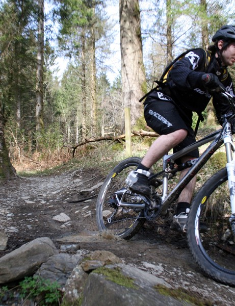 The rocky loop at our Coed y Brenin demo day meant riders could really put bikes to the test