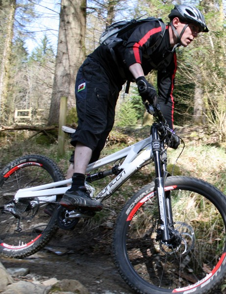 Bionicon's unique adjustable suspension design was useful on the ups and downs of the Welsh loop