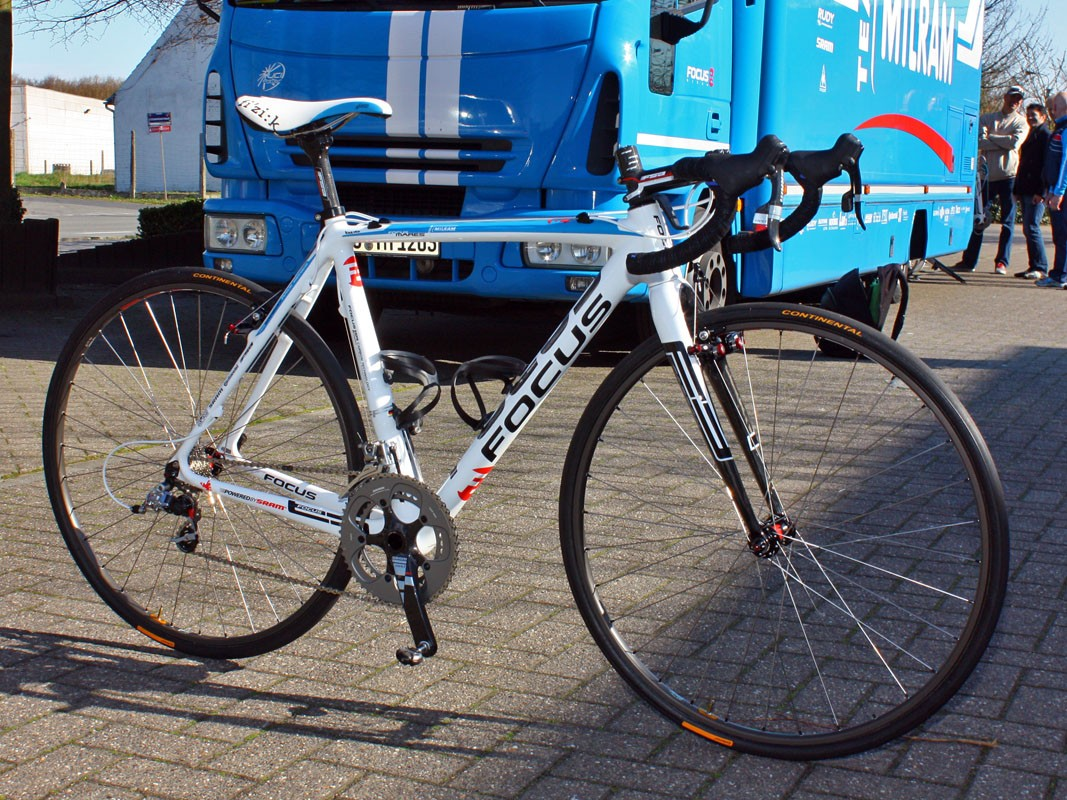 Servais Knaven (Team Milram) would have ridden this Focus Mares if the weather looked ominous for this year's Paris-Roubaix.