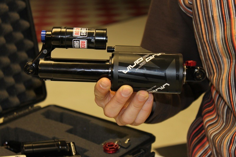 A first look at RockShox's new downhill air shock, Vivid Air.