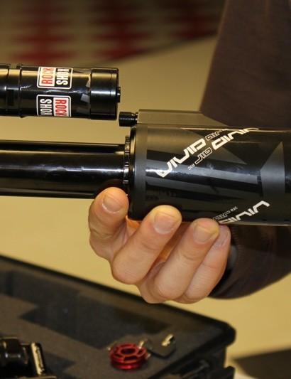 A first look at RockShox's new downhill air shock, Vivid Air.