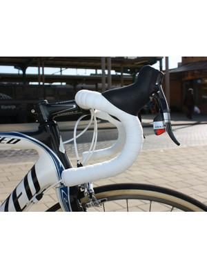 Breschel prefers a traditional-bend handlebar.