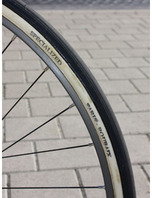 Breschel's tyres were clearly labelled as 'Specialized' but the base tape and font give them away as FMBs.