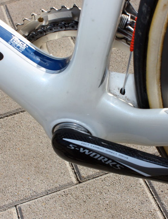 Specialized doesn't call it this, but that's a BB30-compatible bottom bracket system hiding in there.