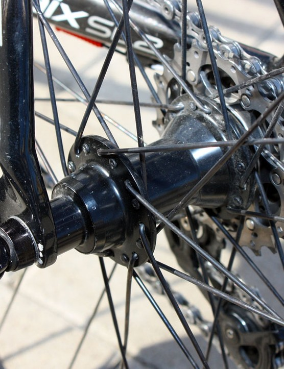 The team's Paris-Roubaix wheels are built around DT Swiss 240s hubs.