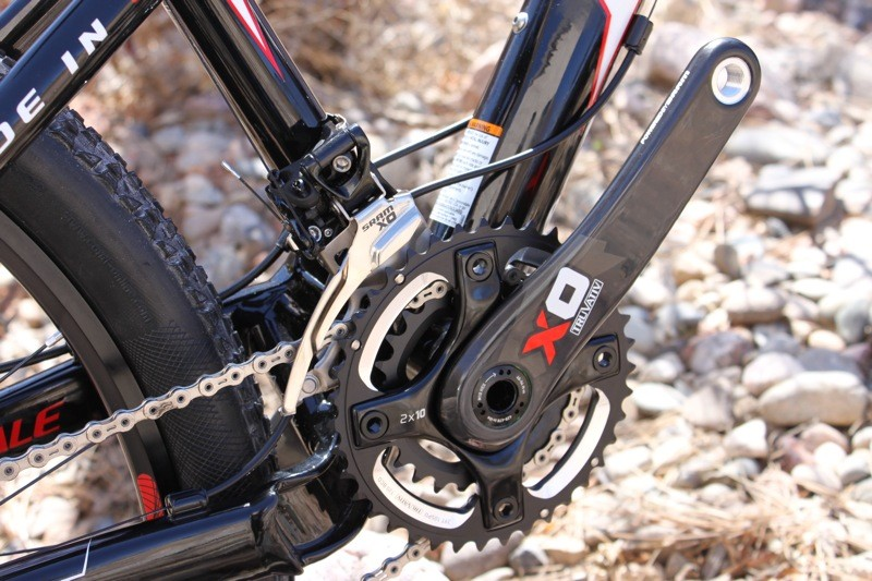 Truvativ's new X0 carbon crank.