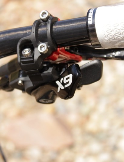 The new X9 10-speed shifter with Matchmaker brake and shifter clamp.