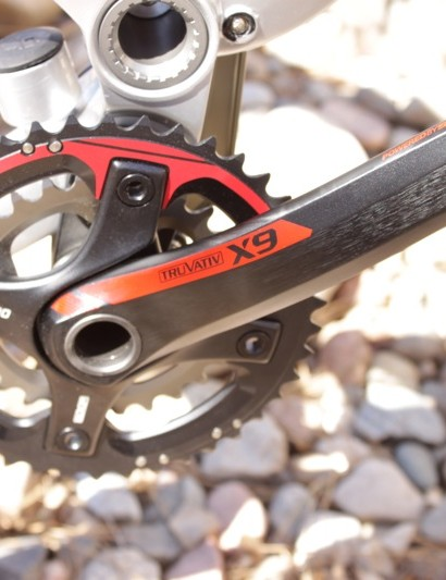 The Truvativ X9 hollow forged alloy crank.