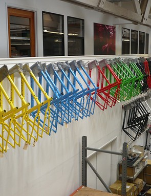 Santa Cruz frames all lined up in a row