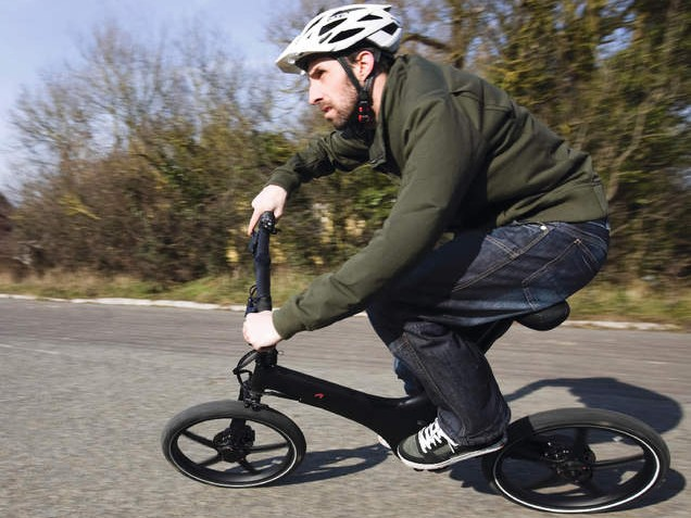 The Gocycle Black Edition, with its steeper head angle, is a little more exciting to ride than the electric original