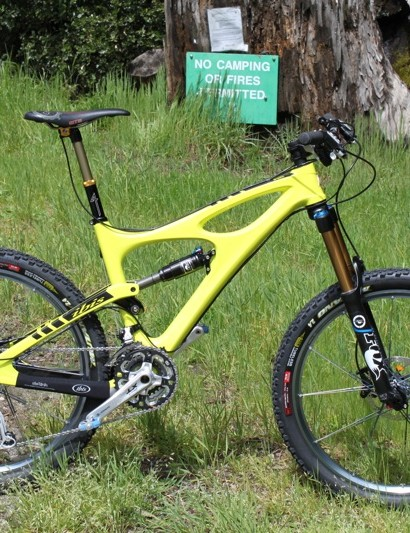 Fox used the Ibis Mojo HD as the launch platform for their new lightweight 36 160