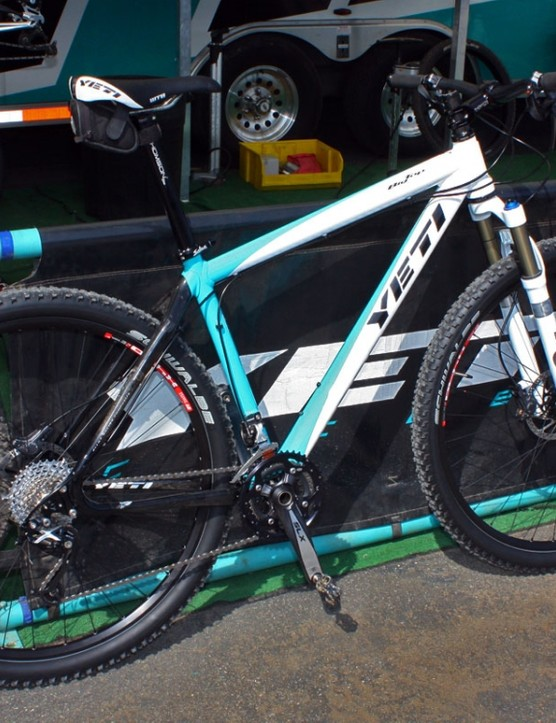Yeti showed off its new Big Top 29er hardtail at this year's Sea Otter Classic.