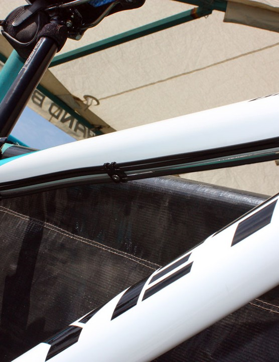 Bolt-on cable guides can be removed for a cleaner look if the bike is set up as a singlespeed.