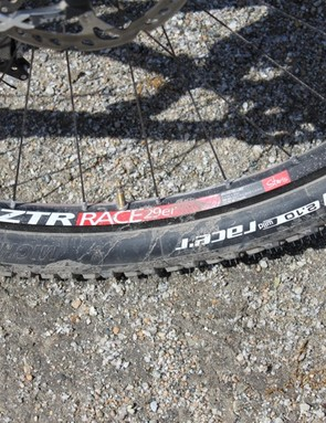 Stan's NoTubes ZTR race wheelset weighs less than most 26-inch wheel options.