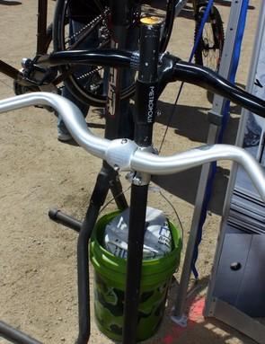 FSA's Metropolis handlebar boasts a generous rearward sweep for a more natural wrist bend.