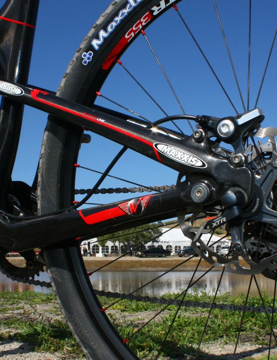 Rocky Mountain's SmoothLink suspension system apparently gets around the Specialized FSR patent by moving the dropout pivot above the rear axle.