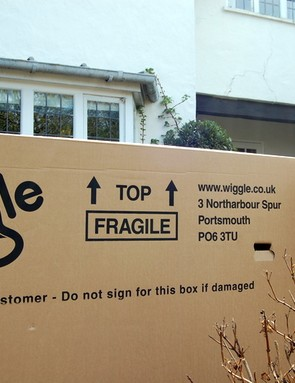 The new bike arrives from Wiggle