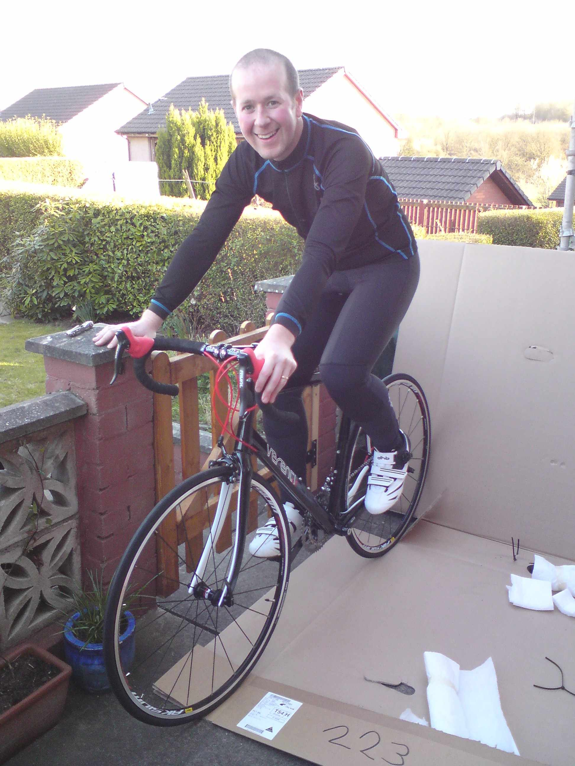 Sam gets to grips with his new Verenti Millook
