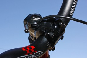 The new RockShox TurnCoat allows dirt jumpers to cleanly run their front brake hoses right through the steerer tube with no drilling or filing required.