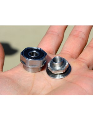 Formula's hub designer pushed the driveside bearing as far out as possible to maximize axle support.