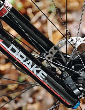 Manitou's drake fork is  a superb choice on a bike at this price