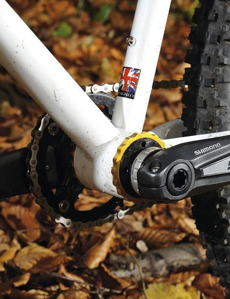 The eccentric bottom bracket is the main selling point of the Soloist