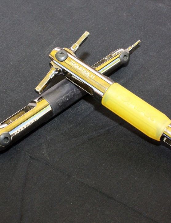 The handy ToolStick 11 and 22 includes four commonly used tools each with pivoting heads and long handles for leverage.