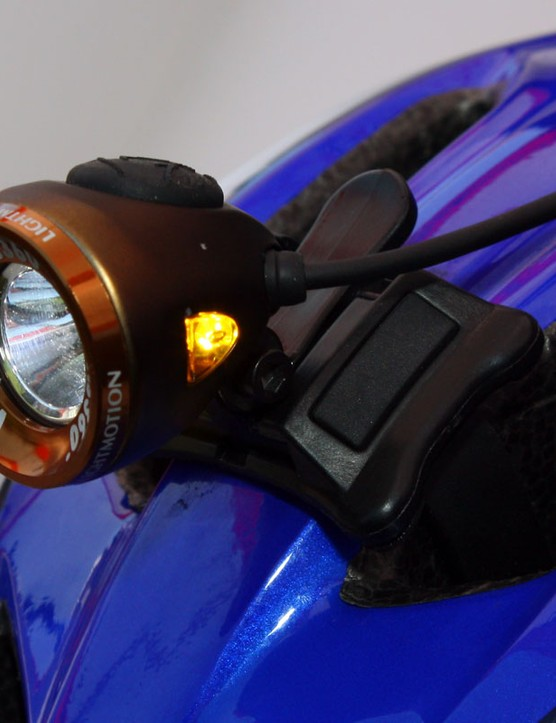 The compact Vis 360° LED head casts out a 120-lumen beam and also houses amber side blinkers.