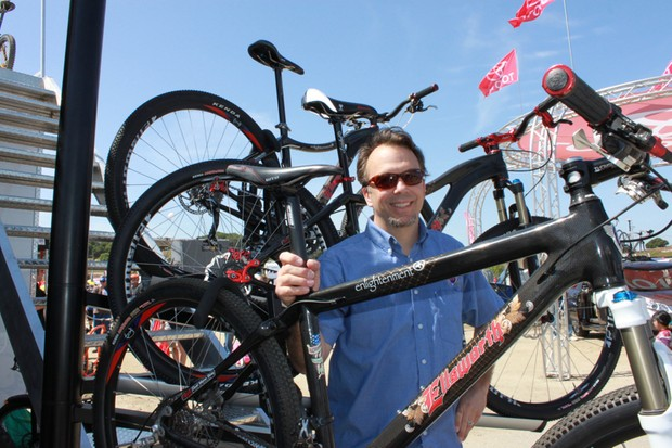 Tony Ellsworth and his new Enlightenment hardtail line.