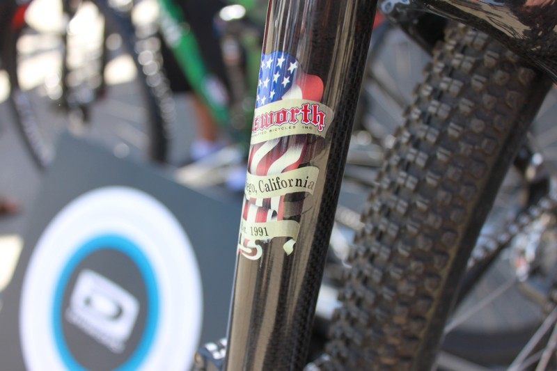 Ellsworth's carbon bikes are designed in California and handmade in Taiwan.