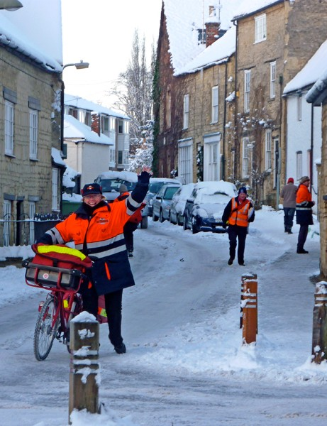 Postal bikes proved useful during this winter's heavy snowfall in the UK, when conditions were too treacherous for vans