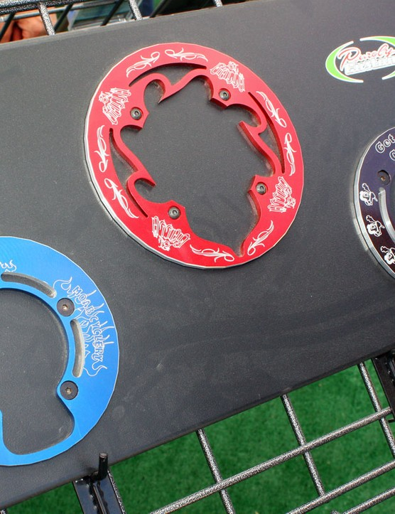 Mountain bike bashguards are offered in multiple sizes, patterns and colours - plus custom, of course