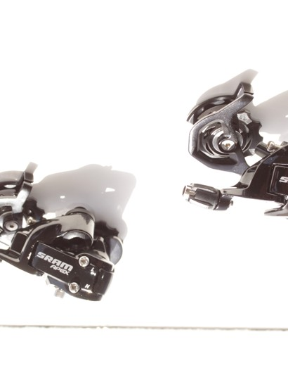 Apex offers both mid-cage and short-cage rear derailleurs for climbers and racers who want a standard drivetrain, but are on a budget.