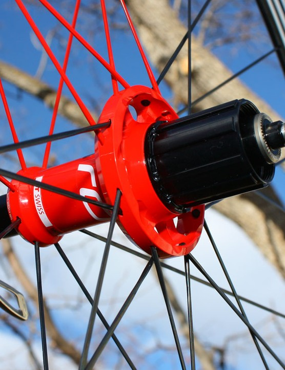 Proven DT Swiss star ratchet internals are tucked behind the interchangeable alloy freehub body