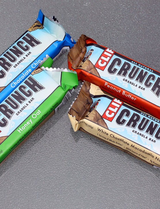 The new Clif Crunch bars will be available in Chocolate Chip, Honey Oat, Peanut Butter, and White Chocolate Macadamia Nut varieties.