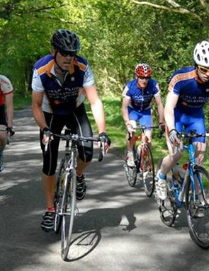 Team Sharp4Prostate training for the RAAM in the Surrey hills