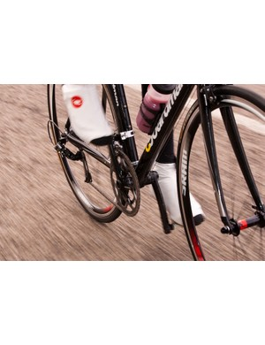Riding SRAM's Apex group.