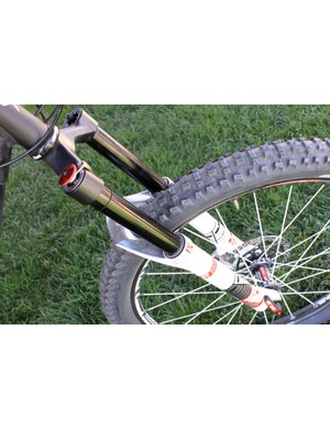 The DT Swiss EXM enduro fork with 130mm to 150mm of travel.