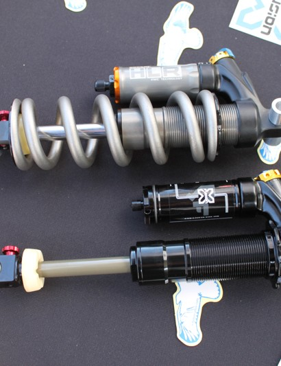 X-Fusion's Vector HLR dampers; the new, smaller version is below.