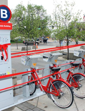 Each kiosk is linked to a central system where user information is queried.  Bikes requiring service can even be remotely locked into the station to prevent their use under repairs are performed.
