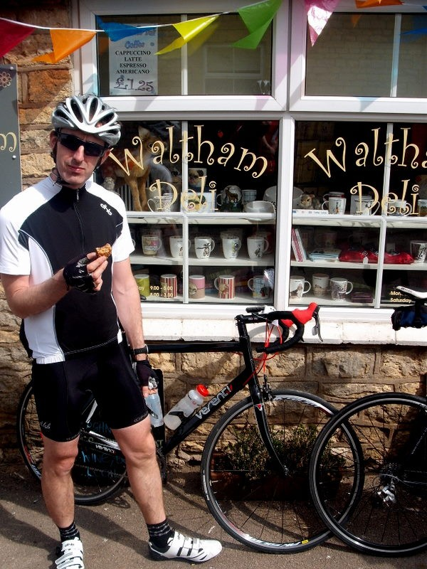 An unplanned cake stop on the Discover Rutland sportive