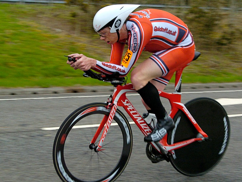 Michael Hutchinson was in fine form to win round 3 of the Rudy Project time trial series in Cumbria